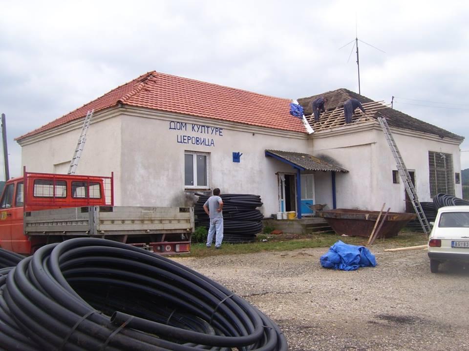 Реконструкција крова Дома културе у Церовици