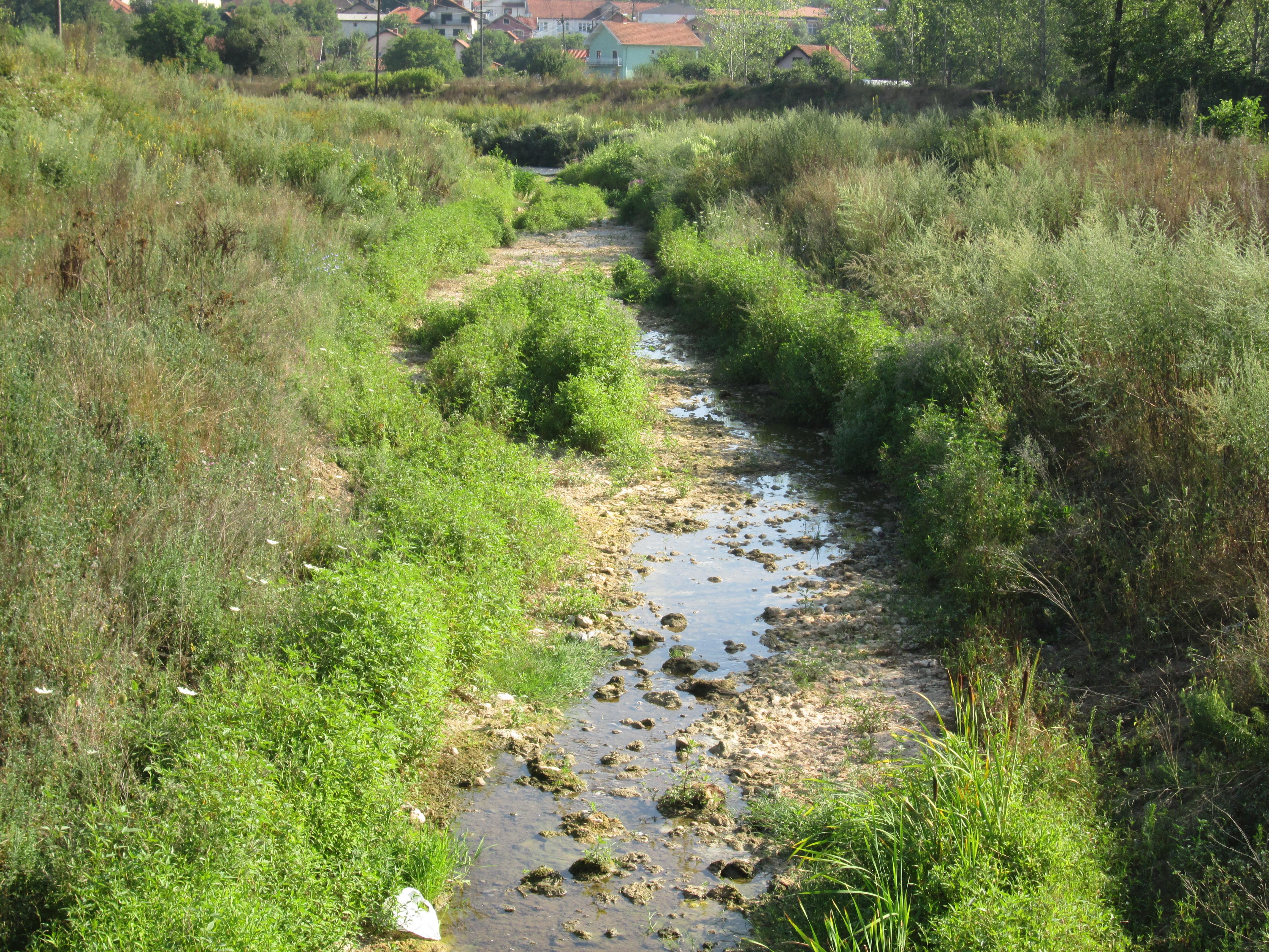 Корито Кучајнске реке скоро суво