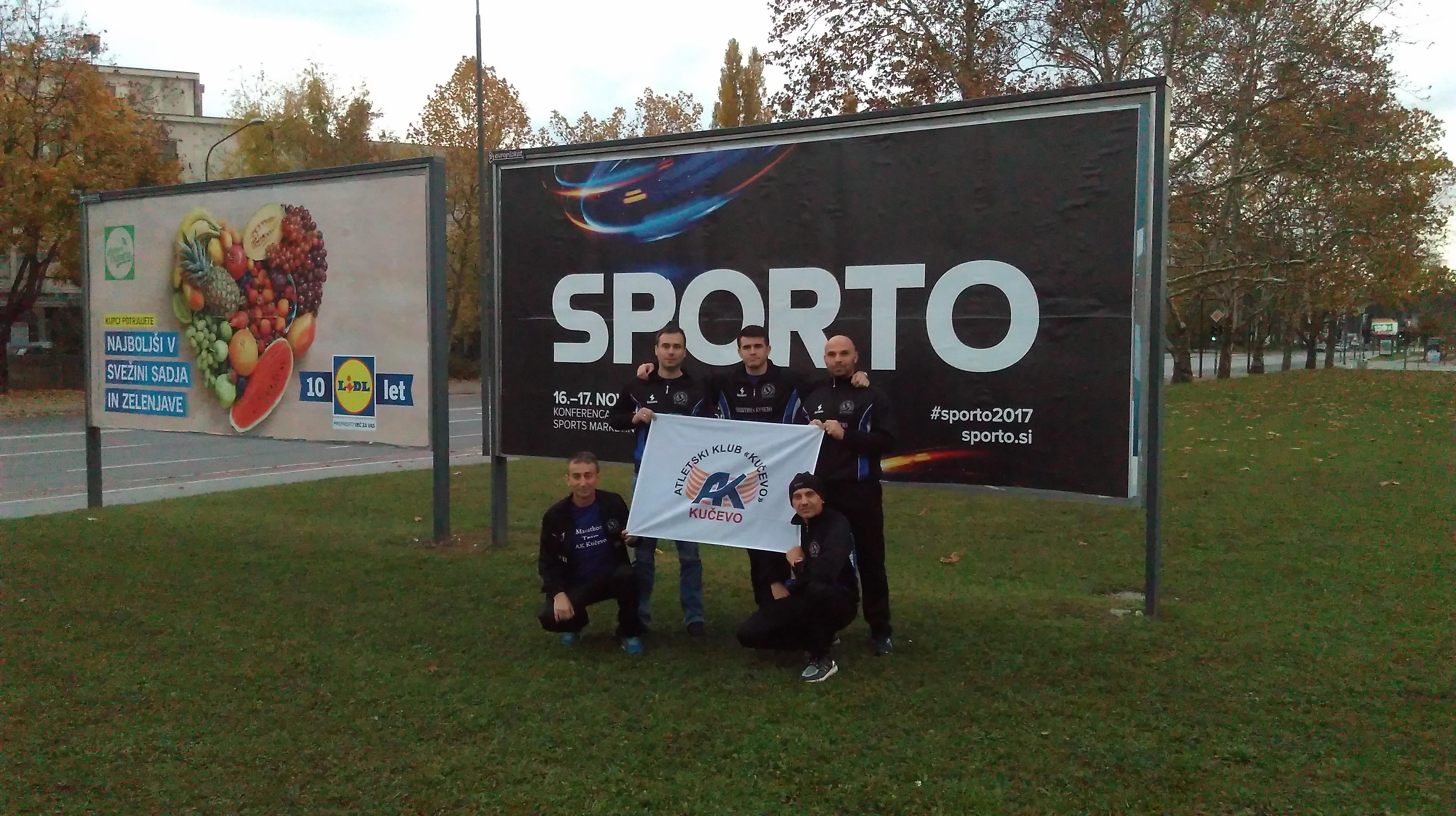 Petorica kučevačkih atletičara  na 22. Ljubljanskom maratonu