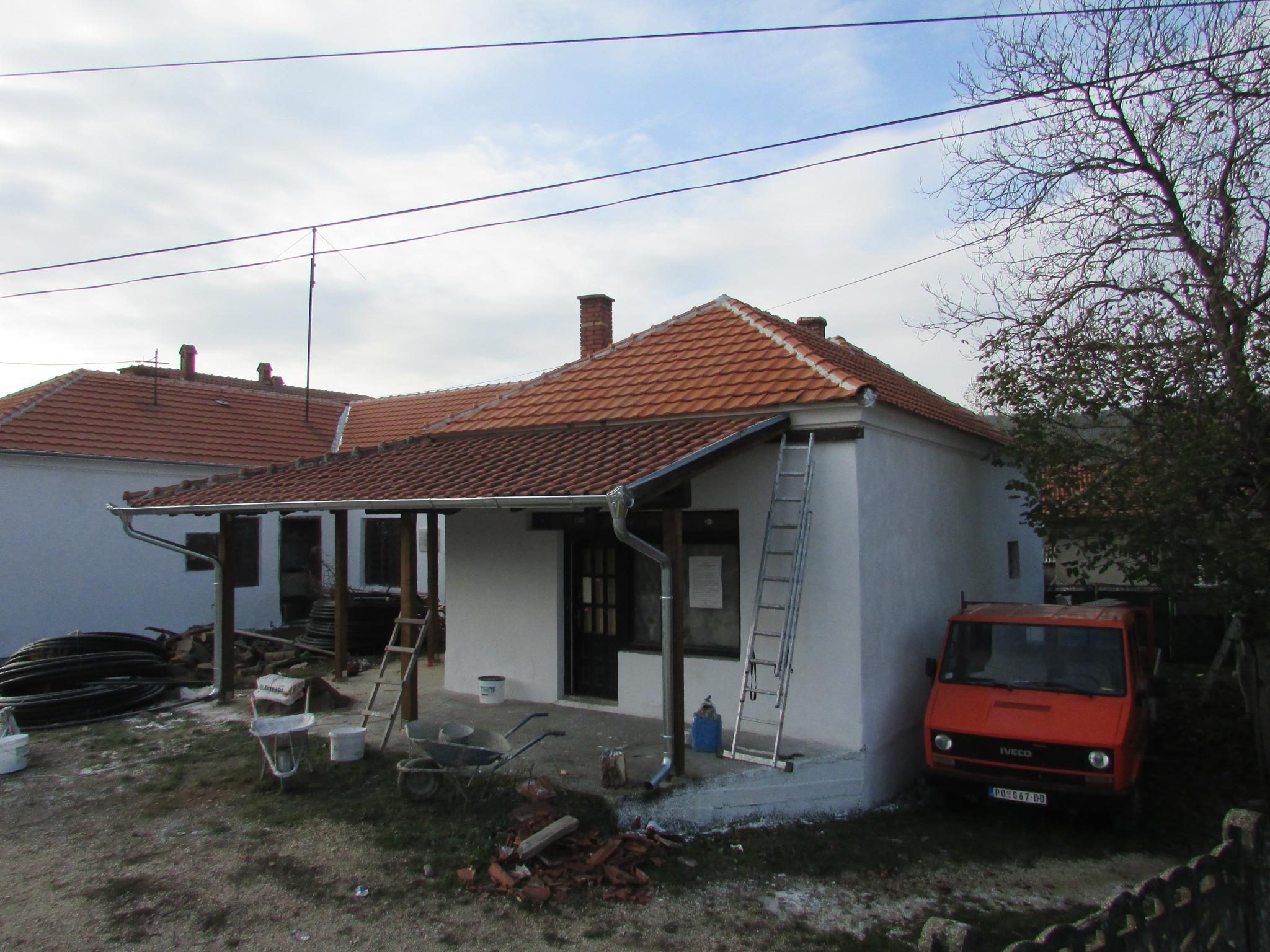 Нов кров и фасада за Дом културе у Љешници