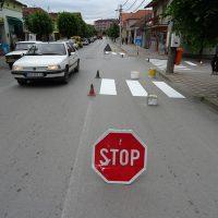 Обележавање хоризонталне сигнализације у граду