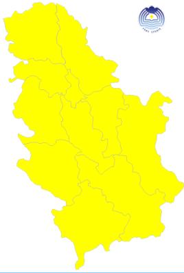 RHMZ proglasio ŽUTI meteoalarm i u Braničevskom okrugu