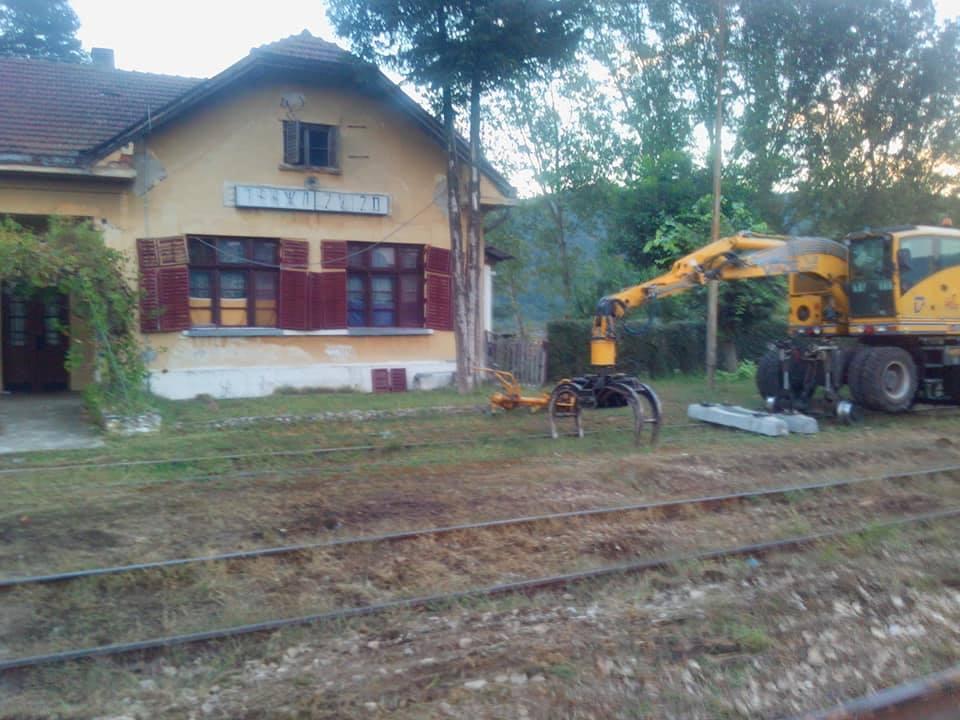 Почела реконструкција пруге на територији наше општине