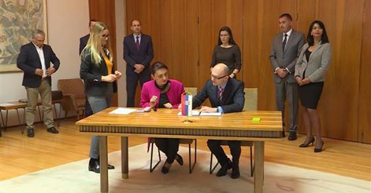 Slavica Bulutić potpisala Ugovor sa ministrom Goran Trivanom o dodeli sredstava iz Zelenog fonda