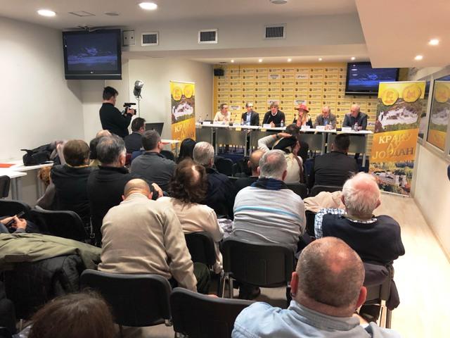 """Filmsko ostvarenje """"Kraku Lu Jordan – putevi zlata"""" autora Dejana Radulovića, prikazano u beogradskom Medija centru"""