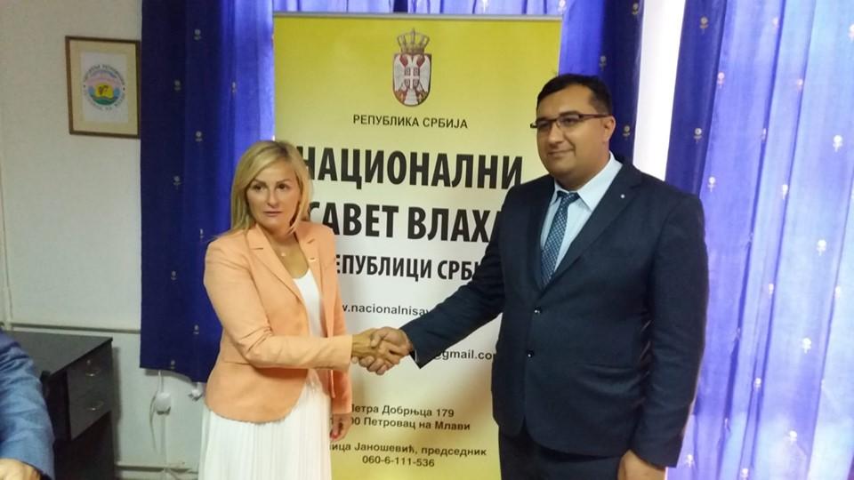 Sastanak predsednika NSV Novice Jasnošević sa direktorkom  Kancelarije Vlade Srbije za ljudska I manjinska prava Suzanom Paunović
