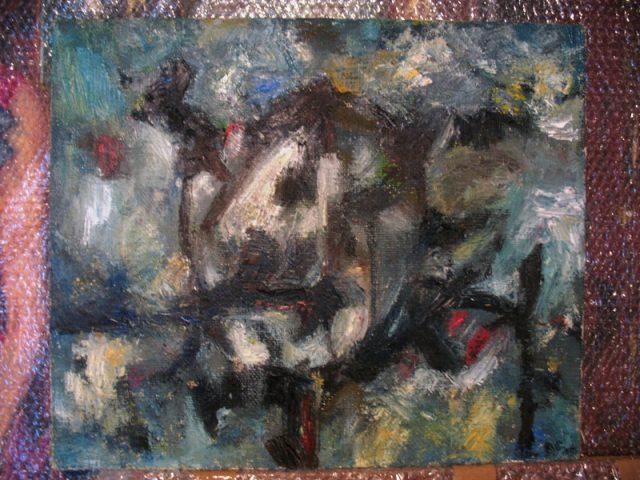 Strah, ulje na platnu, 60x56cm, 2012.god.
