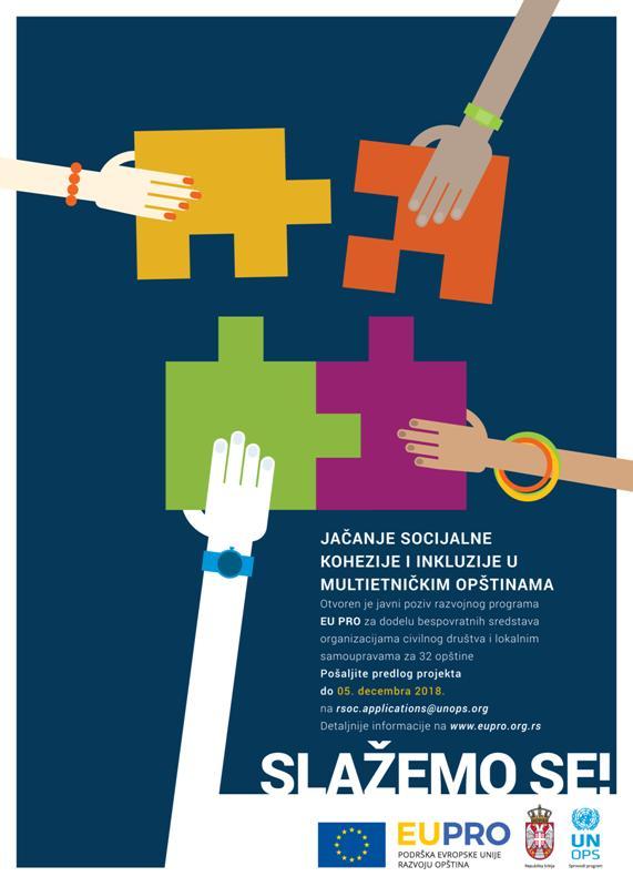 """Hotel """"Rudnik"""" utorak, 30. oktobar :Informativna sesija EU PRO o javnom pozivu """"Slažemo se"""""""