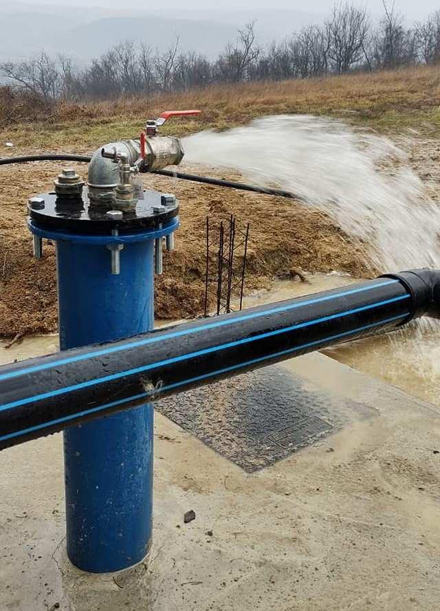 Потекла вода кроз нови потисни вод